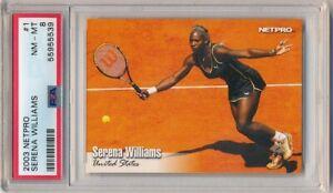 SERENA WILLIAMS 2003 NETPRO #1 RC ROOKIE TENNIS CARD PSA 8 NM-MT $150+