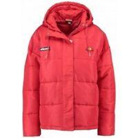 Ellesse Womens Padded Boyfriend Jacket Loose Fit Pejo Red 6uk Hooded