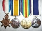WW1 Naval Long Service Group (4) Medals, P.O. Parker, H.M.S. Alecto, Gallipoli