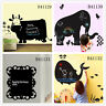 Animals Blackboard Home Room Decor Removable Wall Stickers Decal Decoration