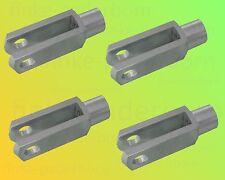 4 x Gabelkopf 6x24 DIN 71752 - M6 - verzinkt - OHNE Zubehör - Gabelgelenk