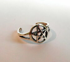 Sterling Silver (925) Adjustable Pentagram Toe Ring ! Brand New !