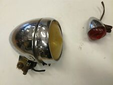 Vintage Sturmey Archer front and rear hub dynamo lights untested