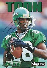 Al Toon Autograph On A 1992 Sky Box - New York Jets - Free Ship