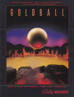 BALLY Goldball Gold Ball pinball flyer brochure pamphlet BRAND NEW. Year 1983.