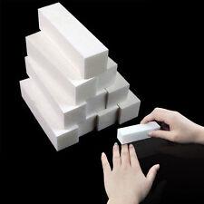 2PCS Chic Lady White Sponge Nail Art Buffer File Block Pedicure Sanding Polish