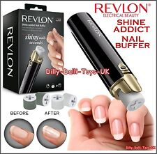 REVLON Shine Addict Nail Buffer Electric Buff & Polisher With 4 Rollers New