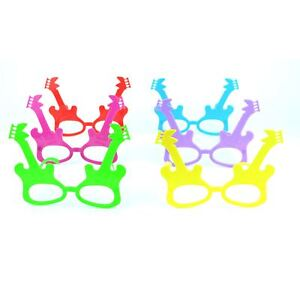12 Party Glasses Guitar Music Rock Party Bag Fillers Photo Props Birthday Weddin