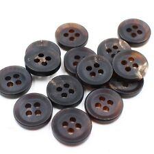 Real Buffalo Horn Blazer Button J651 Lot 11pcs 15//20mm Rare Natural Brown Suit