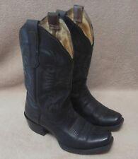 Kids NOCONA Cowboy Western Boots Black Square Toe Sz 5.5B