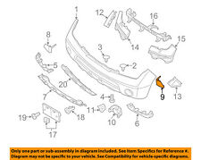 NISSAN OEM 05-07 Pathfinder Front Bumper-Corner Molding Left 62087EA500