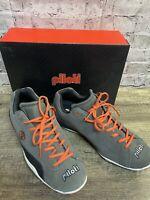 Piloti Driving Shoes Mens Prototip Charcoal/orange/White Sneakers Size 11.5 Lace