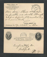 1903 Feick Bros Co Surgical Instruments Limbs Pittsburg Pa Postal Card Ux18 #1