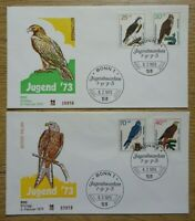 Bund FDC Bund 754 - 757 auf 2 Ersttagsbriefen Motiv Greifvögel Vögel 45,00 €