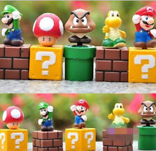 100% Brand New Cute Mini Figures 5PCS/Lot Super Mario Bros Figurine Toy Doll J