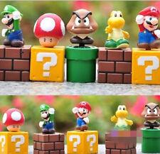 100% Brand New Cute Mini Figures 5PCS/Lot Super Mario Bros Figurine Toy Doll J