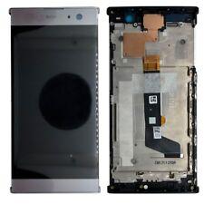 Sony pantalla lcd completo con Marcos para Xperia XA2 PLATA Reemplazo REPAIR