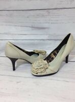 Arturo Chiang Zaina Peep Toe Pump Size 7M Leather