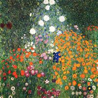 """GUSTAV KLIMT Flower Garden *FRAMED* CANVAS PRINT 20""""X 20"""""""