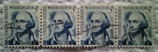 1966 U. S. Scott 1283 George Washington four used cancelled 5 cent stamps off
