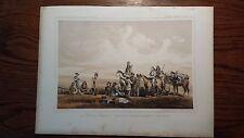 """Lithograph """"LIEUT CROVERS ..."""" /John Mix Stanley / 1860 Railroad Survey Report"""