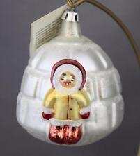 Christopher Radko Little Eskimo 1992 Ornament 92-038-0 Igloo Early Cap & Tag