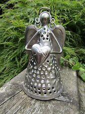 Fair Trade Hand Made Christian Angel Heart Candle Lantern Tea Light Holder