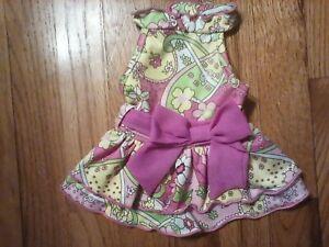 Lulupink xs dog dress