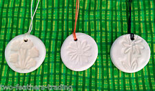 White Clay HEALING AROMATHERAPY Flower PENDANT & Essential Oil Blend + Diffuser