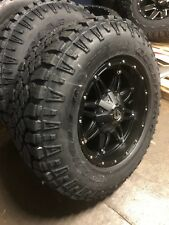"18x9 D531 Hostage Wheels Rims 33"" Goodyear Duratrac Tires 5x150 Toyota Tundra"