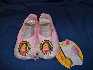 GIRLS DISNEY PRINCESS AURORA BEAUTY BALLET SLIPPERS COSTUME DG18295