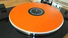 Funk Firm Achromat 5.0mm Turntable Mat - Orange (FREE MICROFIBRE RECORD CLOTH)