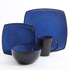 Modern Dinnerware Dish Set For 4 Square Kitchen Stoneware Plate Bowl Mug 16 Pcs