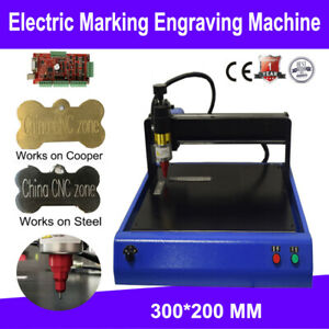 Electric Marking Engraving Machine 300x200mm For Metal stainless steel Copper