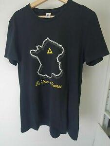 Le Coq Sportif Tour De France Mens Black Tshirt Sz M.