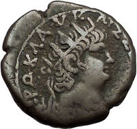 NERO 65AD Alexandria Silver Tetradrachm Authentic Ancient Roman Coin Rare i56243