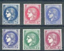 "FRANCE STAMP 1938-41  Y&T 372 / 376 "" TYPE CERES 6 TIMBRES "" NEUFS xx TTB"