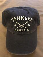 New York Yankees '47 Brand Navy Blue Adjustable Hat Cap Strap New w/ Sticker MLB