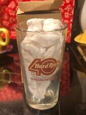 HARD ROCK Cafe Niagara Falls New York One Pint Beer Glass 40th Anniversary NIB