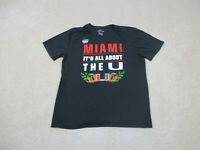Nike Miami Hurricanes Shirt Adult Large Black Orange UM College Football Men A76