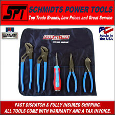 CHANNELLOCK 5 PIECE PLIER SET & SCREWDRIVER IN HANDY ROLL UP POUCH TOOLROLL-4