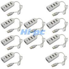 Lot 10Pcs New USB 2.0 4 Port Hub High Speed Row For PC / Mac White