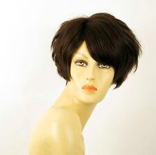 Perruque femme 100% cheveux naturel châtain ref NAOMIE 6
