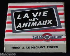 *** FILM 8MM NB MUET 15 METRES - MINET ET LE MECHANT PIGEON ***