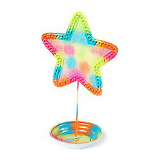 Neon Rainbow Glitter Star Jewelry Earring Holder - NWT