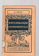 la psycologie experimentale - h pierone -