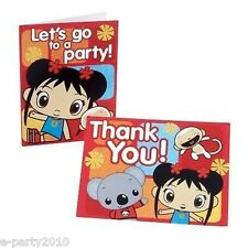 (8) NI HAO KAI-LAN INVITATIONS & THANK YOU NOTES ~ Birthday Party Supplies Cards