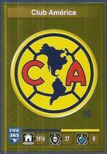 PANINI-2016 FIFA 365- 611-CLUB AMERICA TEAM BADGE-GOLD FOIL