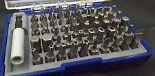 Faithfull 61 pezzi di sicurezza/cacciavite Bit Set Torx, Hex, Pozi FREEPOST