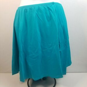 Beach House Women's Charlotte Skirted Swimsuit Bottom with Side Teal Size 22W